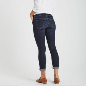 AG the Stilt Cigarette leg Dark Wash Cropped Jeans